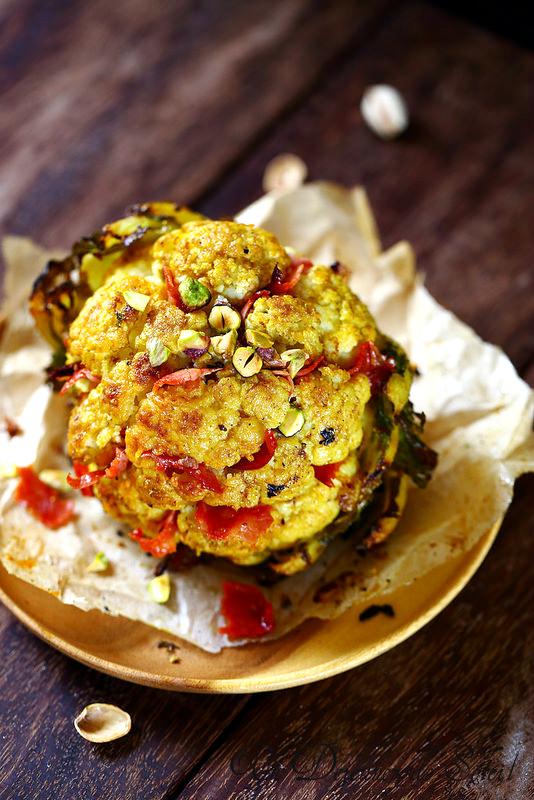Chou-fleur rôti aux épices