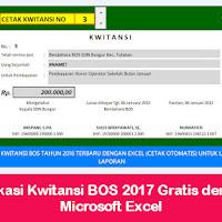 Aplikasi Kwitansi Bos 2017 Gratis Dengan Microsoft Excel