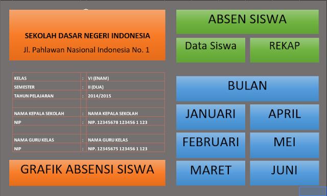 Aplikasi Absensei Siswa Excel dengan Fitur Grafik