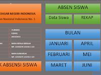 Contoh Aplikasi Absensei Siswa Excel dengan Fitur Grafik Versi Berkas Sekolah
