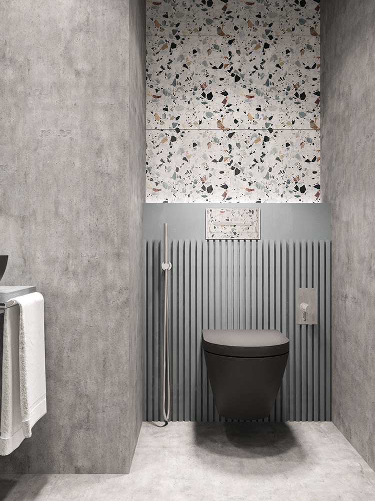 Impressive Terrazzo And Concrete Bathroom Design My