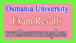 Osmania University MCA August 2016 Exam Results