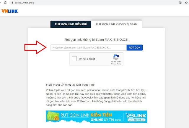 Cách đăng link rút gọn 123link.vip lên facebook qua vnlink