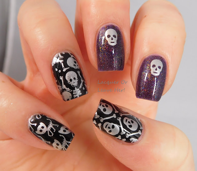 Born Pretty Store BP-L057 over The Lady Varnishes Broken Carousel and Julep Ledi