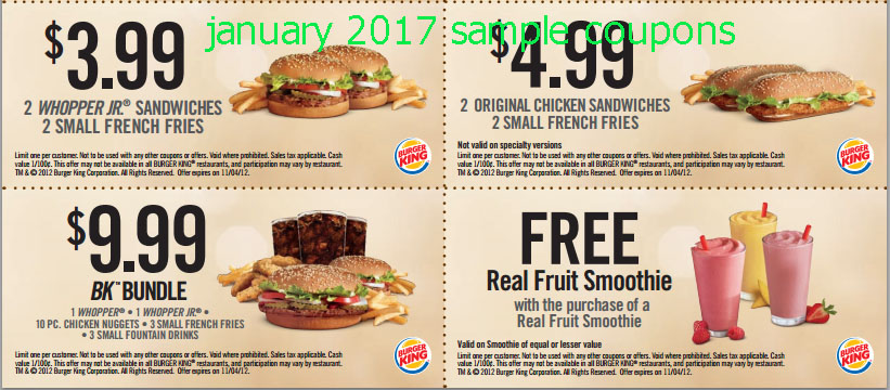 Burger king coupons 2018 january