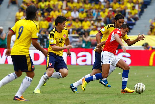 Colombia y Chile en Clasificatorias a Brasil 2014, 11 de octubre de 2013