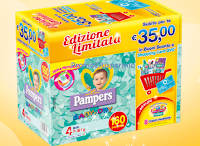Logo Pampers Baby Dry: 15 euro in buoni sconto + shopping Card 20 euro QVC