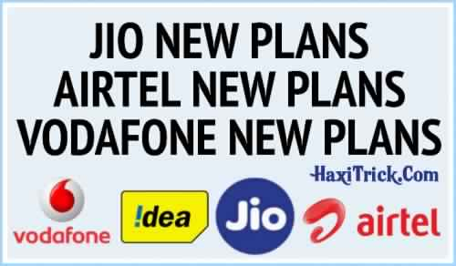Bharti Airtel, Vodafone-Idea And Reliance Jio Recharge Prepaid Plans December 2019 List