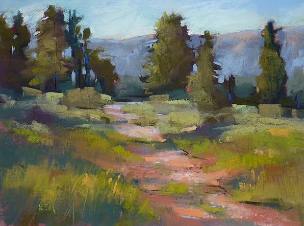Painting World Pastel Mini Demo.landscape