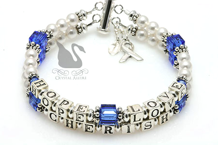 Holly's Custom Hope Love Cherish Mothers Bracelet (B204)