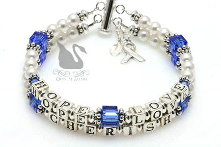 Holly's Custom Hope Love Cherish Mothers Bracelet (B204)