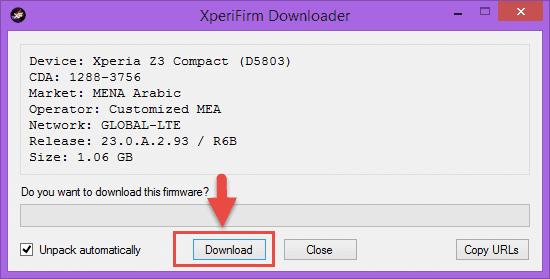 أفضل برنامج XPERIFIRM لتحميل جميع رومات اندرويد الرسمية لهواتف سوني SONY