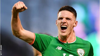 Declan Rice played in Republic of Ireland friendlies against Turkey, France and the United States last year