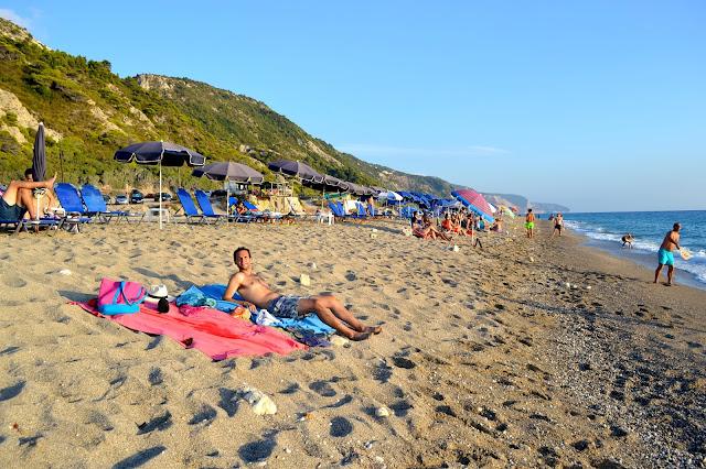 playa de Gialos, isla Lefkada, Grecia