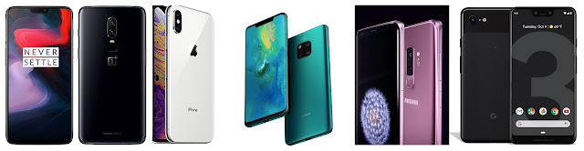 oneplus6-iphonexs-mate20pro-galaxys9plus-pixel3xl