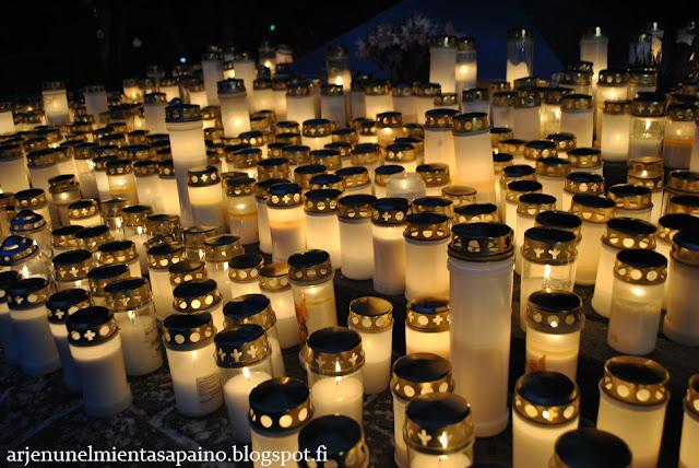 hautausmaa, pyhäinpäivä, kynttilät