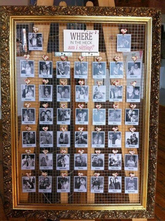 Asignar los asientos en una boda_fotografías