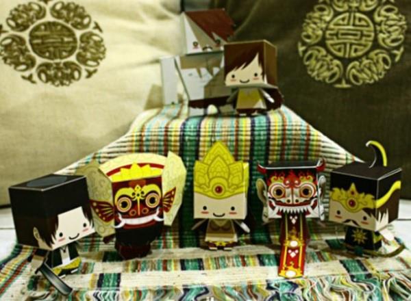 PAPERMAU: Indonesian Cultural Heritage Paper Toy Series  by Kobico