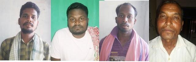 पत्थरगढ़ी मामला - मास्टर माइंड के बाद पुरे नेटवर्क को सम्हालने वाले चार आरोपी गिरफ्तार,अब तक कुल 7 गिरफ्तारियां