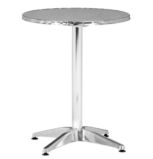 Zuo Christabel Folding Table in Aluminum