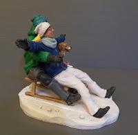 modellino fidanzati sulla neve statuetta personalizzata da foto orme magiche