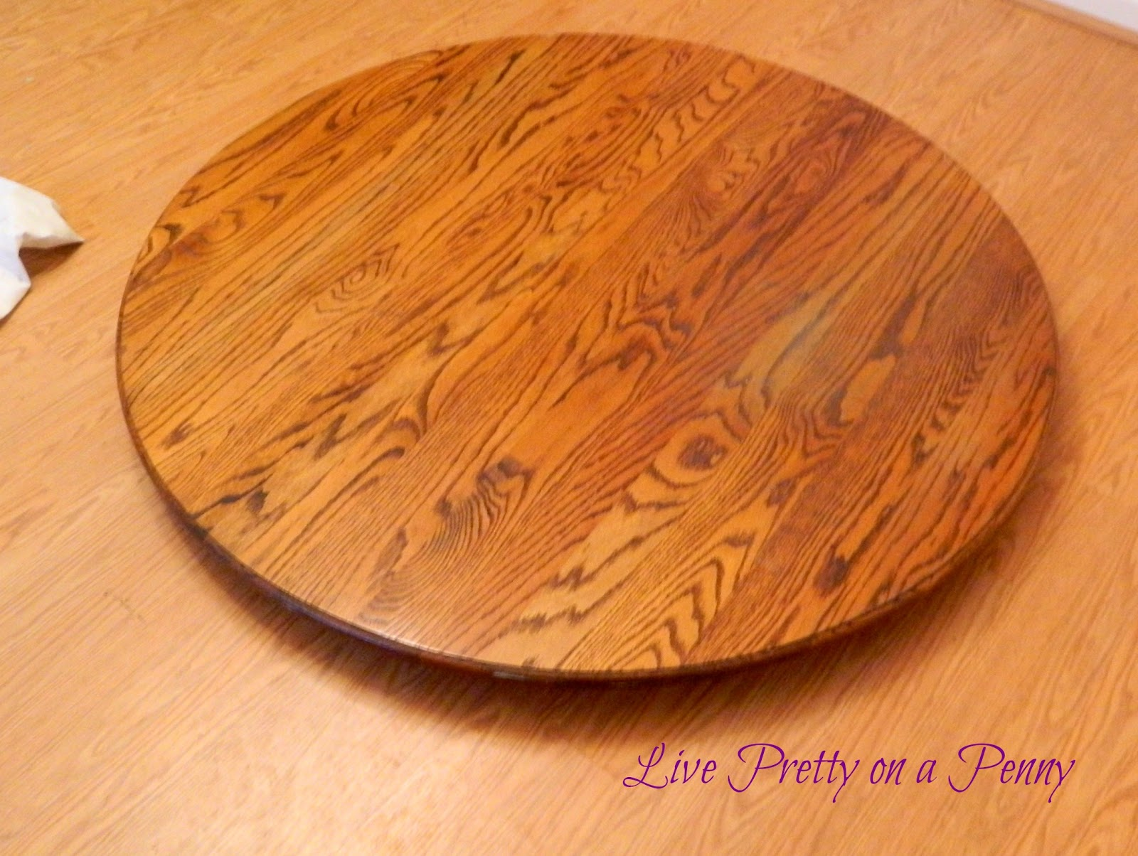 Refinishing An Oak Table A Dining Room Update Live Pretty On A Penny