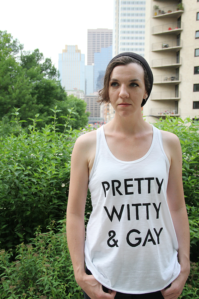 Pretty & Witty & Gay DIY T-Shirt Stencil