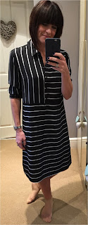 My Midlife Fashion, Marks and Spencer Autograph stripe shirt dress