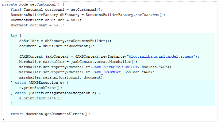 XML generation with Oracle ADF