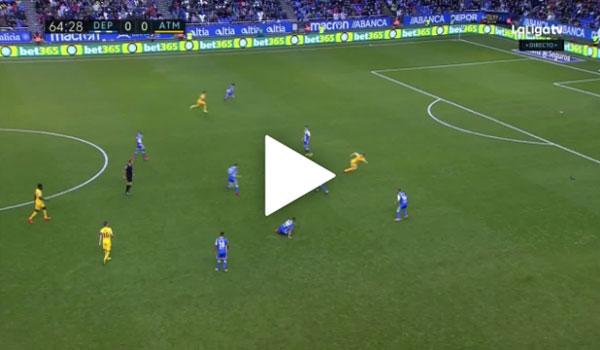 Video Deportivo La Coruna 0 - 1 Atletico Madrid La Liga vòng 11