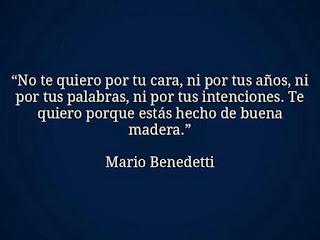 Frase de una novela de Mario Benedetti