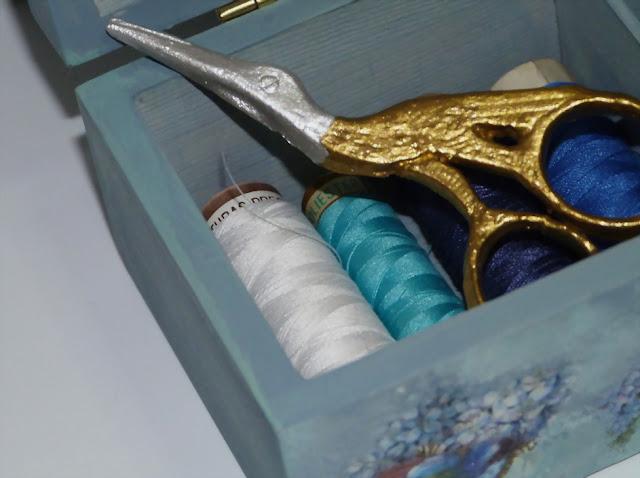 caja para hilos-costurero-tijera-escayola
