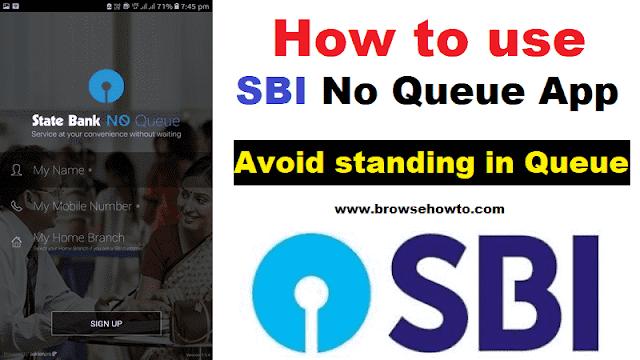 How to use SBI No Queue App