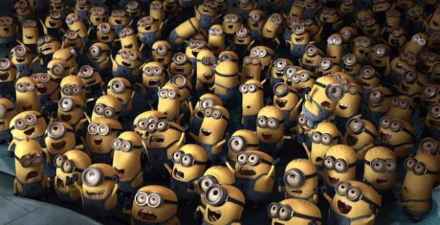 Cute Rambunctious Bunch of Minions HD Wallpapers