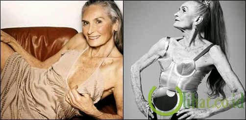 Daphne Selfe, model tertua di Inggris