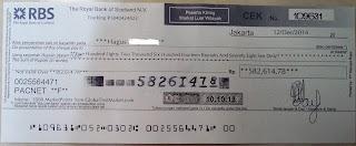 Bukti pengiriman uang dari GlobalTestMarket