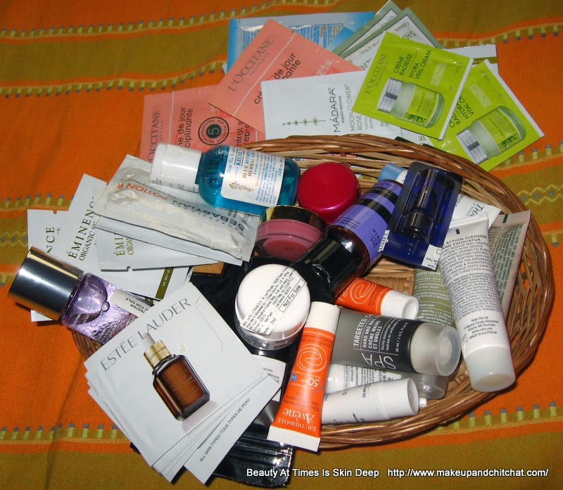 My stash of beauty Samples
