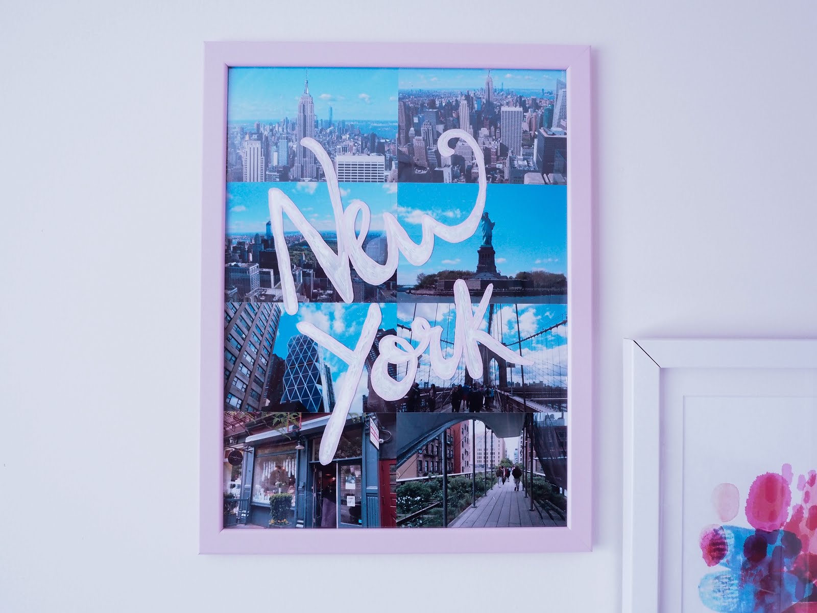 Add calligraphy to your photo frames using chalk pens and personalise with your holiday snaps