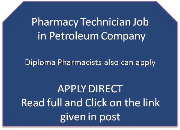 pharmjobs org: Pharmacy Technician Job in Petroleum Company