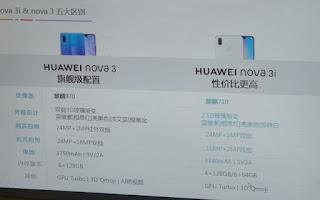 تسريب مواصفات هاتف Huawei Nova 3i