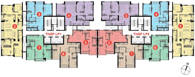 Mặt bằng căn hộ Lucky Palace quận 6 của NovaLand