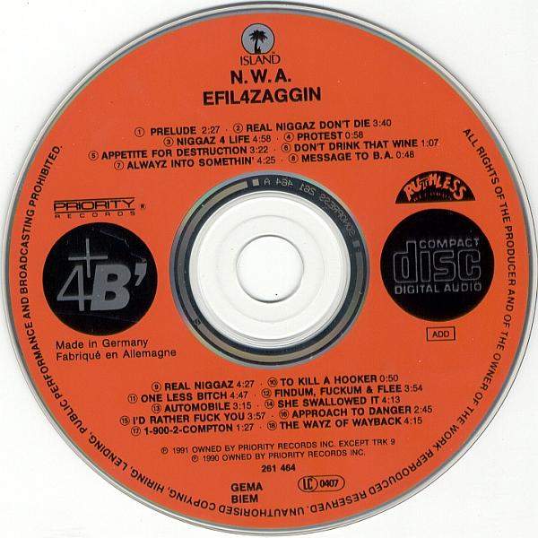 N.W.A — Niggaz4Life (Efil4zaggin) (1991) Flac + 320kbps | RlsMaradona