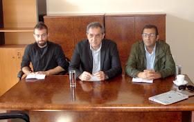Περιοδεία στην Κατερίνη από κλιμάκιο του ΚΚΕ με επικεφαλής τον βουλευτή Γ. Δελή.