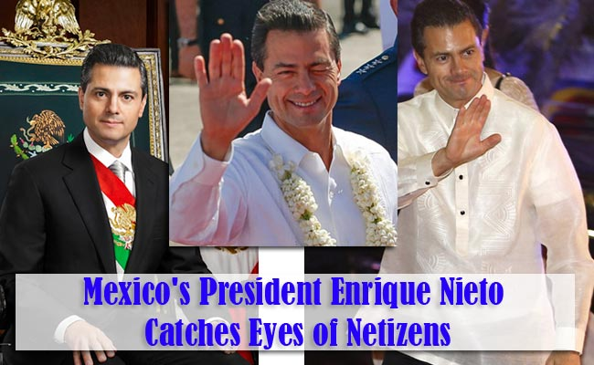 Mexico's President Enrique Nieto Catches Eyes of Netizens