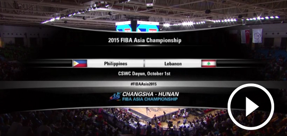 Fiba Asia 2015: Gilas Pilipinas def. Lebanon, 82-70 (REPLAY VIDEO) PHL Advances To Semis