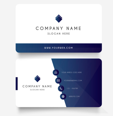 Template Kartu Nama - Modern Business Card With Gradient Shapes