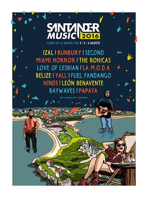 Santander, Music, 2016, Festival, Música, cartel