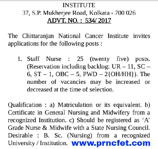 CNC Institute Staff Nurse Latest Vacancy 2018 Apply Now