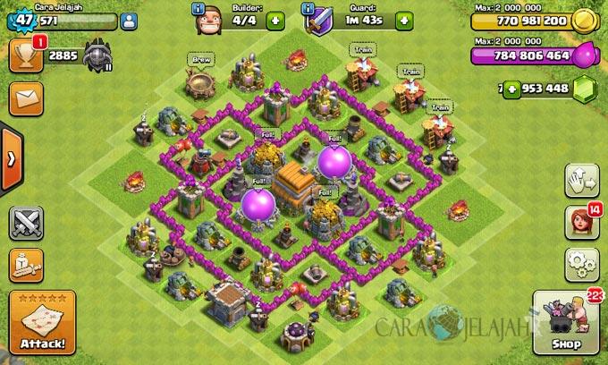 pertahanan terbaik untuk base war th 6 di clash of clans 7