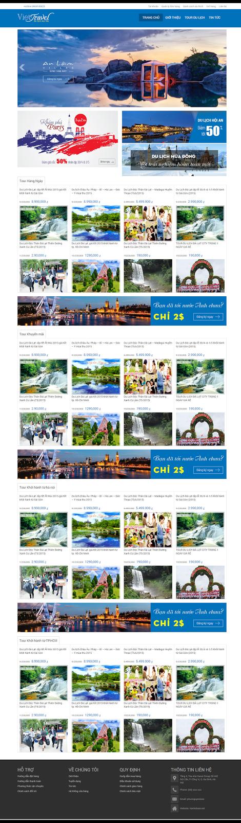 thiet ke web du lịch